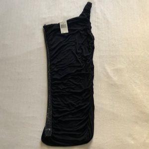 Guess One Shoulder Black Dress